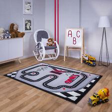 M7 Kinder Teppich Kurzflor Schwarz Grau Pink 60 80 120 140 160 200