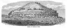 Argelia tumbas de reyes Numidian - 1860 impresión Antiguo