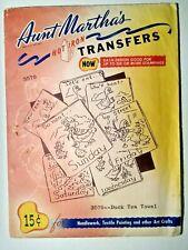 Aunt Martha's Duck Tea Towel #3570 Embroidery Needlepoint Iron on Transfers