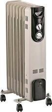 NEW HOMEBASIX DF-150P-7 OIL FILLED RADIATOR ELECTRIC HEATER 3 SETTINGS 3528908