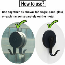 Set of 2 STRONG Magnetic Wreath Hangers Decor Tool Holder Sign Holder Key Holder