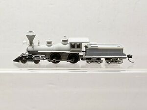 N gauge Atlas 4-4-0 steam locomotive-unpainted.