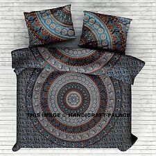Indian Elephant Mandala Tapestry Queen Size Bed Sheet Bedding Blanket Set Throw