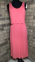 A Pea In The Pod CORAL Sleeveless MATERNITY Nursing Dress Women's Size M *NWT*