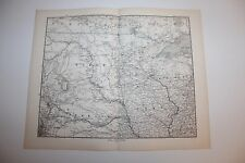 Carte de 1879, atlas Stieler,Gotha J. Perthes  Nord America Iowa etc  N° 82