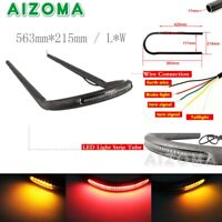 22MM Rear Seat Frame Hoop Loop with LED Brake Running Taillights For Cafe Racer