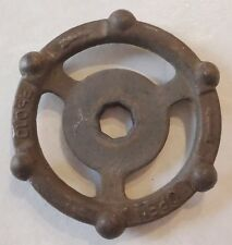 "VINTAGE STEAMPUNK CAST IRON WATER VALVE HANDLE 3 3/4"" INCH"