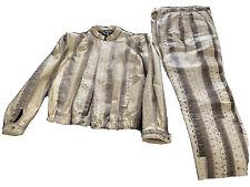GENUINE COBRA Snakeskin Pant Suit.Jacket  & Pants Women's 6-8