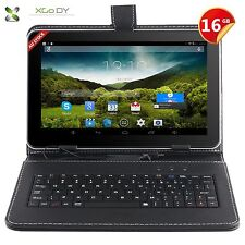 "9"" inch Android 4.4 KitKat Tablet PC Quad Core 16GB Dual Camera WiFi W/ Keyboard"