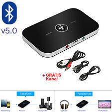 Bluetooth 5.0 Transmitter Empfänger Sender 2in1 Aux Audio Adapter TV Kopfhörer