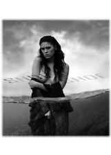 Art Nude Woman Photo B&W Glossy 5X7 A7 Greeting Card (10X7 Folded) -In The Water