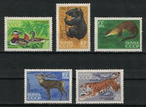 RUSSIA,USSR:1970 SC#3759-63 MVLH Animals from the Sikhote-Alin Reserve S210