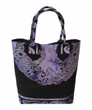 Purple Color Celtic Tree Women Throw Shoulder Bags Cotton Indian Shopping Purse