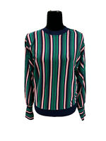 Ted Baker Kionai Full Sleeve Striped Jumper Navy Multicolor Sweater Size 3 US 8