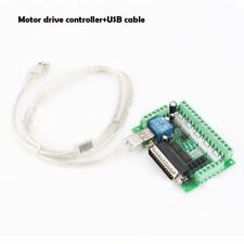 5 Axis CNC Breakout Board optical coupler  Motor Driver&USB cable MACH3 Stepper