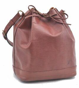 Authentic Louis Vuitton Epi Noe Brown Shoulder Bag LV C9005