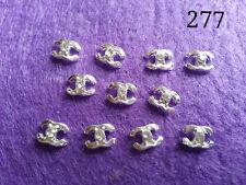 Nail Art 3D LOGO Alloy Decoration Bling Rhinestone Glitter Tips DIY 10pcs [277]