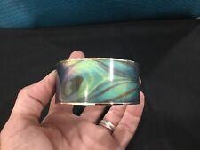 Metropolitan Museum Sterling Bangle Cuff Blue Green Swirl Bracelet