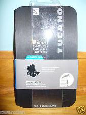 "Tucano ""MACRO"" hard shell folio case for Samsung Galaxy Tab 3 8.0"", Black NEW !"