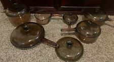 12pc Corning Vision Pyrex Amber Cookware