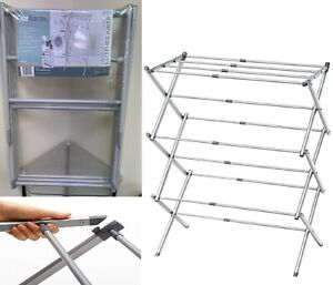 Extendable Clothes Airer Dryer 3 Tier Metal Laundry 8.5M Drying Space Indoor Out