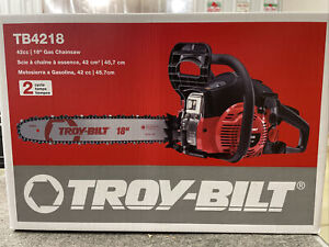 """Troy-built tb4218 42cc 18"""" Gas Chainsaw"""