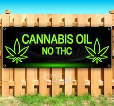 Cannabis Oil No Thc Advertising Vinyl Banner Flag Sign Many Sizes Usa Cbd