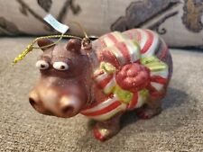 Robert Stanley Collection Christmas Hippo Hippopotamus Ornament