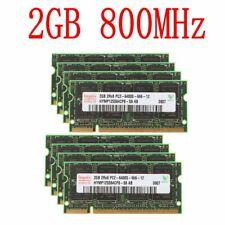 16GB 16G(8x 2GB) 1GB PC2-6400S DDR2-800MHz 200Pin SODIMM Laptop intel Memory LOT