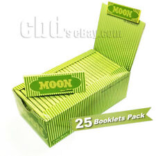 "Moon 25 booklets HEMP Cigarette Tobacco Rolling Papers 1.25"" 77*45mm"