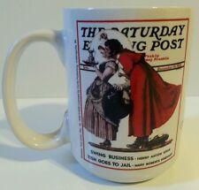 "1936 ""Mistletoe"" Norman Rockwell Saturday Evening Post Christmas Collection Mug"