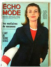 L'echo de la mode n° 24 année 1964; Mode / Cuisine / Ouvrages / Romans
