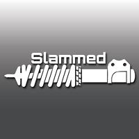 Slammed Lowered Funny Car Window/Bumper Vinyl Decal Sticker JDM DUB Euro Stance