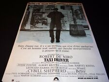 TAXI DRIVER    !  robert de niro martin scorsese   affiche cinema 1976