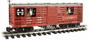 Bachmann - Animated Stock Car with Horses - Ready to Run -- Santa Fe - G