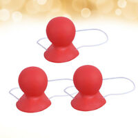 3pcs Big Rubber Red Nose Funny Clown Nose for Masquerade Carnival