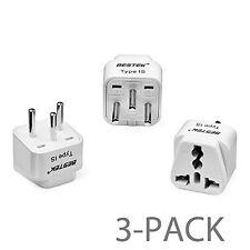 Pack of 3 Bestek Universal Israel Travel Power Adapter Plug Converter Charger