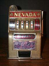 VTG 1970's Bonanza Las Vegas Slot Machine Toy Bank Casino Memorabilia
