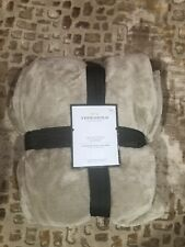 THRESHOLD Microplush Blanket | KING | Brown Linen 🆕