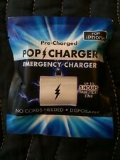Pop Charger Single Pre-Charged Emergency Disposable Charger for iPhone[SET OF 3]