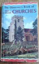 Observer's Book of Old English Churches, illustrated 1st edition 1965 with dj