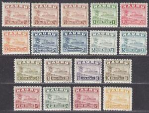 Nauru 1937-48 Freighter Set Mint SG26B-39B cat £200
