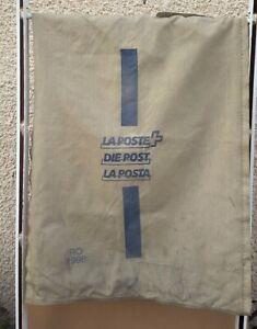 Ancien SAC LA POSTE DIE POST LA POSTA 1998 pub PTT TOILE DE JUTE vintage déco