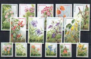 Stamps of  Kenya 1983 # Sc 247-261 MNH flowers set