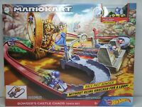 Hot Wheels Mario Kart Bowsers Castle Chaos Track Set  Blue Yoshi Figure Included