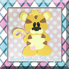 BABY TIGER Paper Piecing card making and scrapbooking NOT FOR RESALE