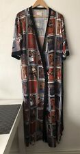 Vintage St Michael Dressing Gown 100%Polyester Bust 97cm Made In The UK