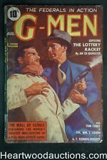 G-Men Aug 1937 .45 Cover, The Lottery Racket