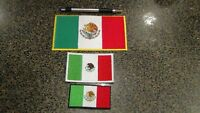 Embroidered Mexico flag patches Choose small medium  Extra large Mexican flag
