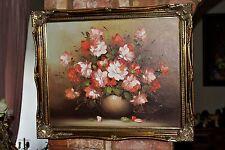 """UN VASE de ROSES Floral Still Life par l'artiste """"Robert Cox"""" ORIGINAL oil"""